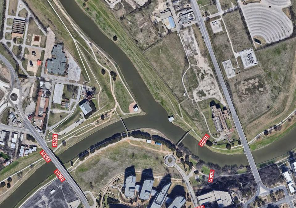 Trail Closure at Panther Island Pavilion for Fort Worth's Fourth
